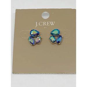 J. Crew Factory Blue AB Crystal Earrings NWT